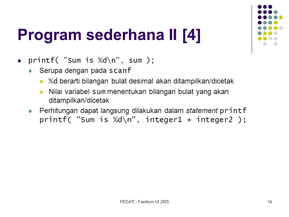 Program sederhana II [4]